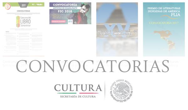 Convocatorias Secretaría de Cultura